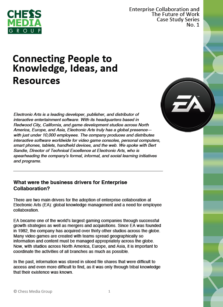 electronic arts case study Electronic arts relies on the nuxeo platform to quickly and securely deliver and track active and completed video game builds shared among case management.